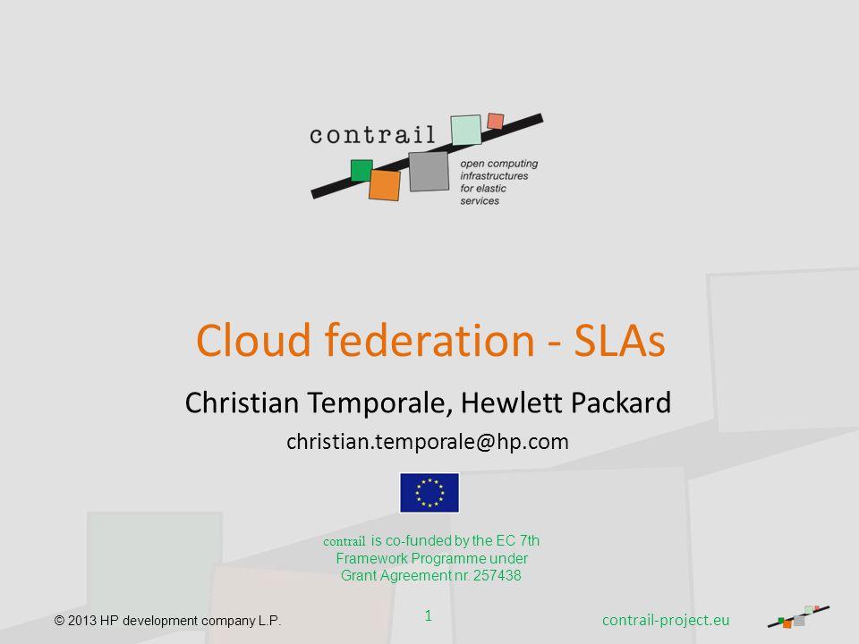 Cloud federation - SLAs