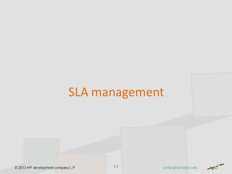 SLA management contrail-project.eu