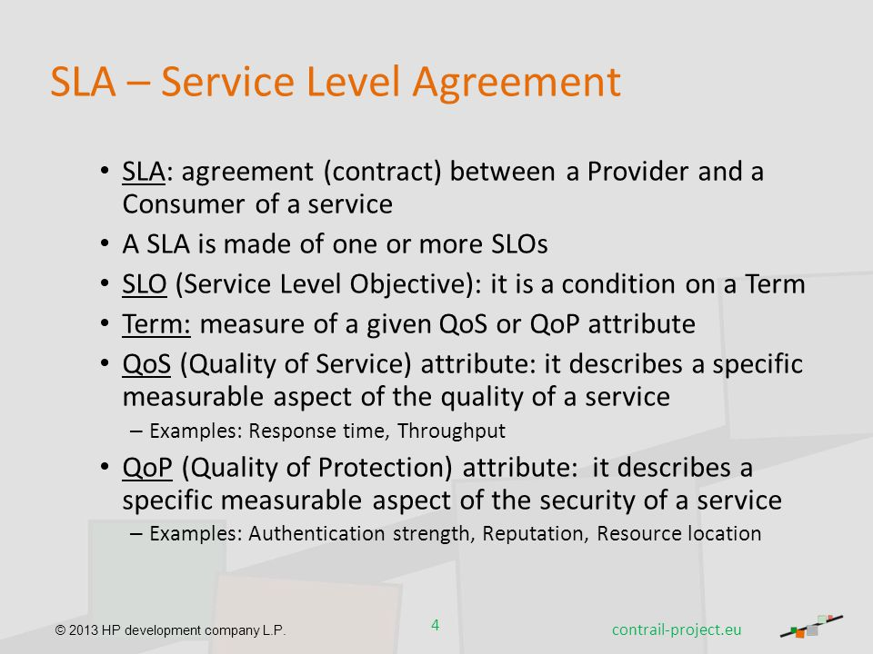 SLA – Service Level Agreement