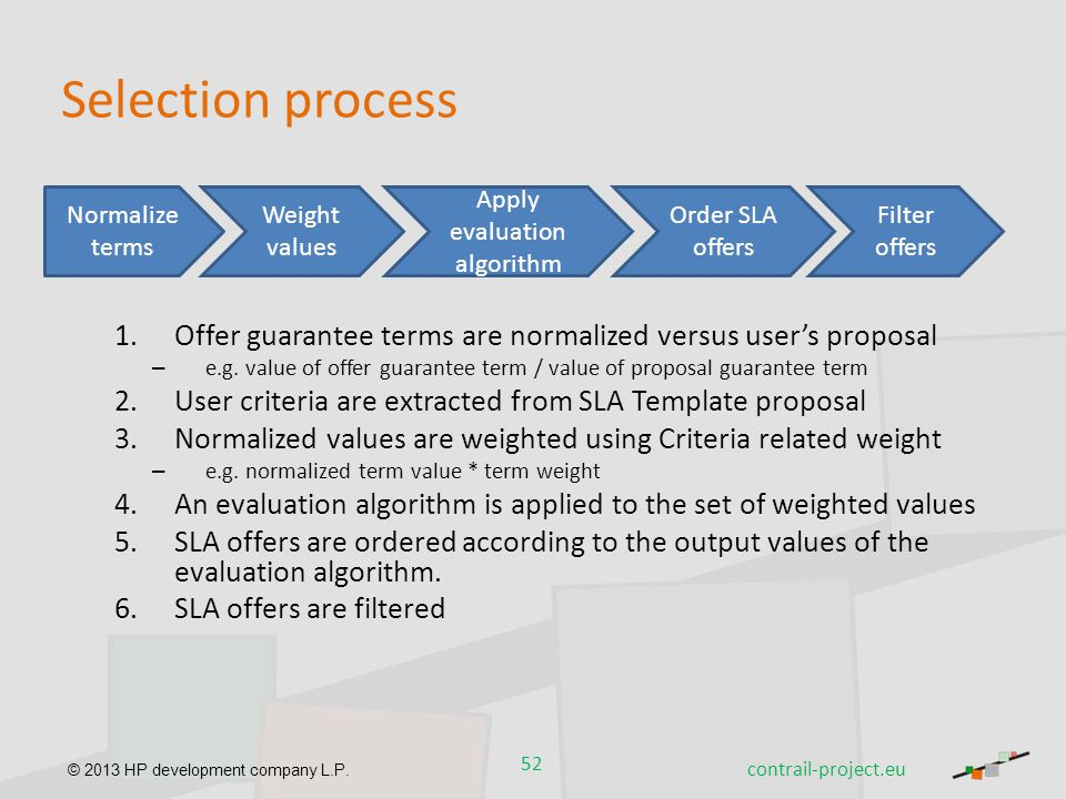Apply evaluation algorithm