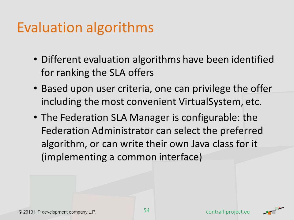 Evaluation algorithms