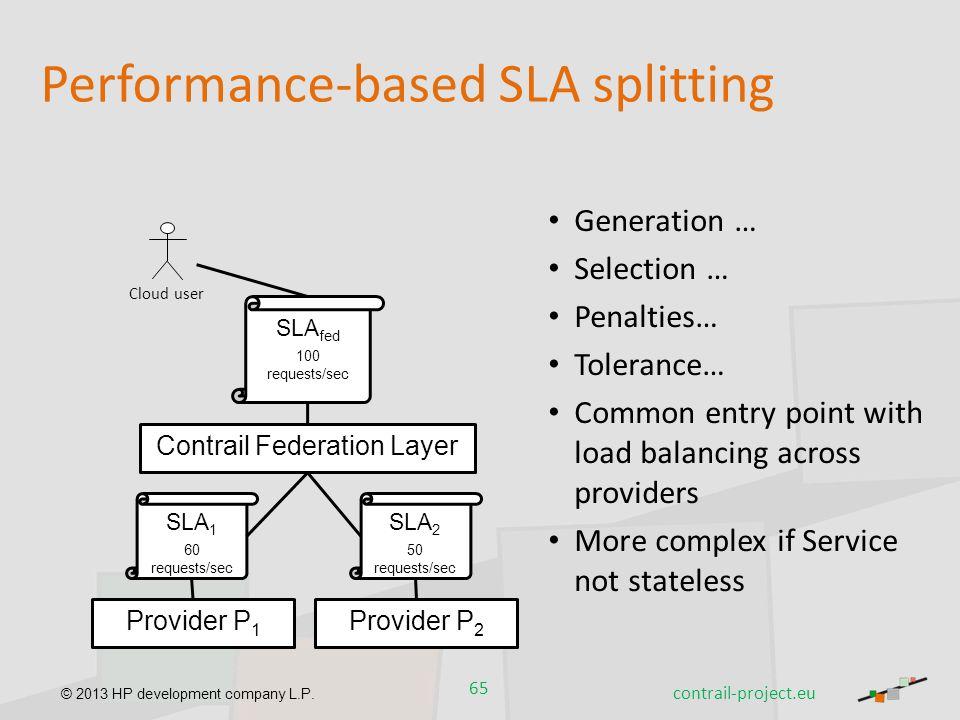 Performance-based SLA splitting