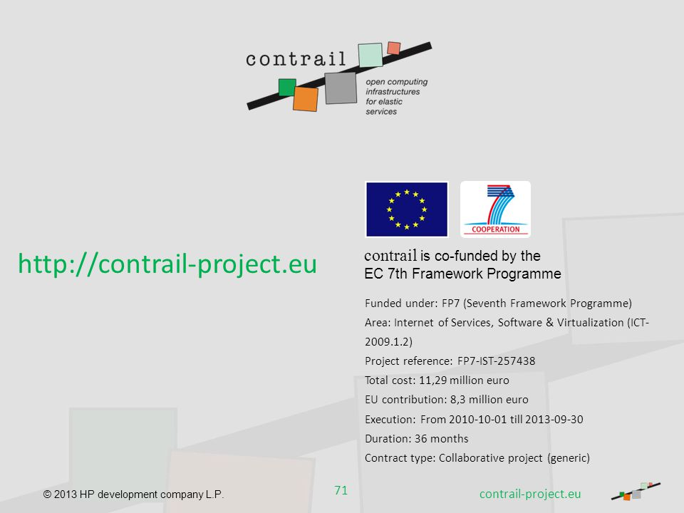 http://contrail-project.eu contrail is co-funded by the