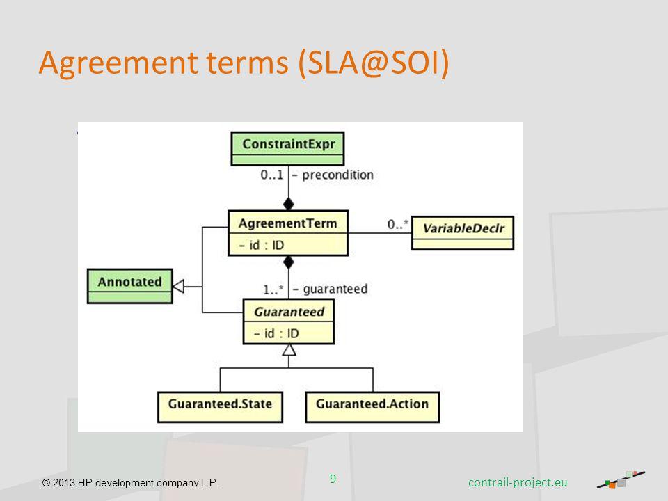 Agreement terms (SLA@SOI)