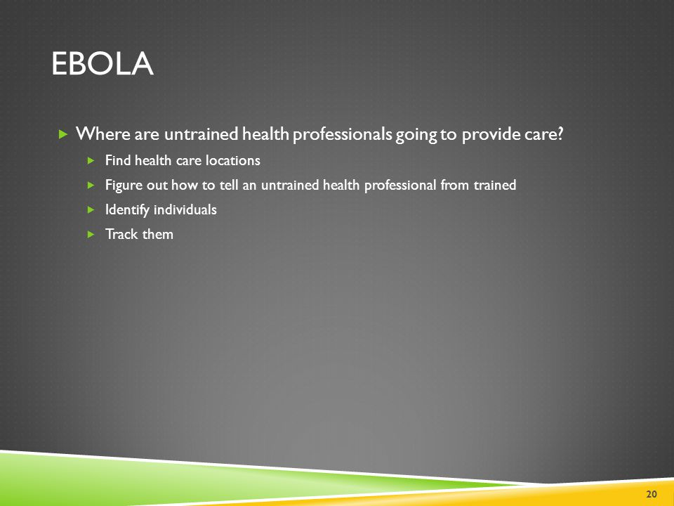 Ebola Where are untrained health professionals going to provide care