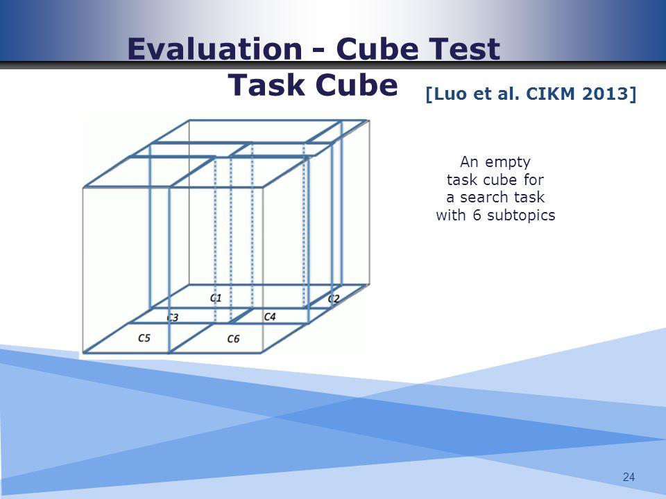 Evaluation - Cube Test Task Cube