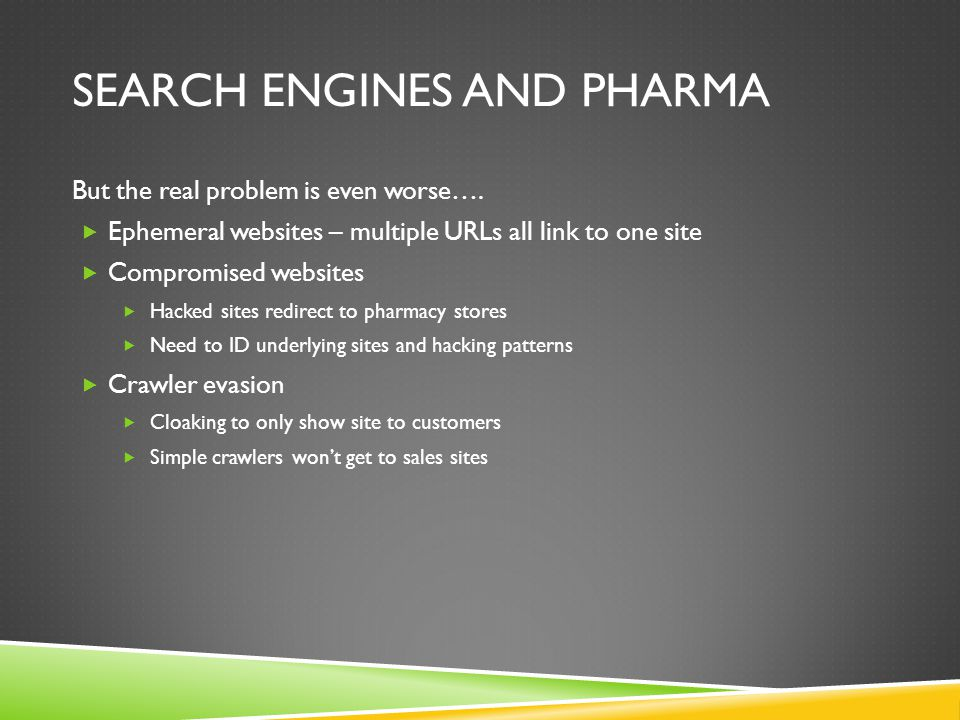 Search Engines and Pharma