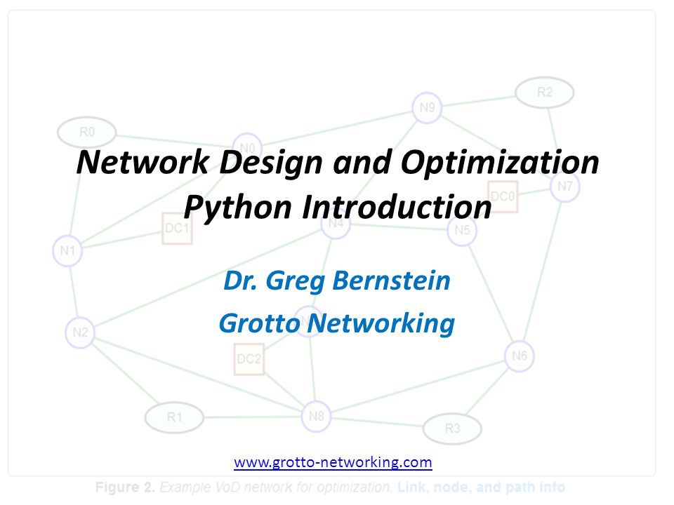 Network Design and Optimization Python Introduction