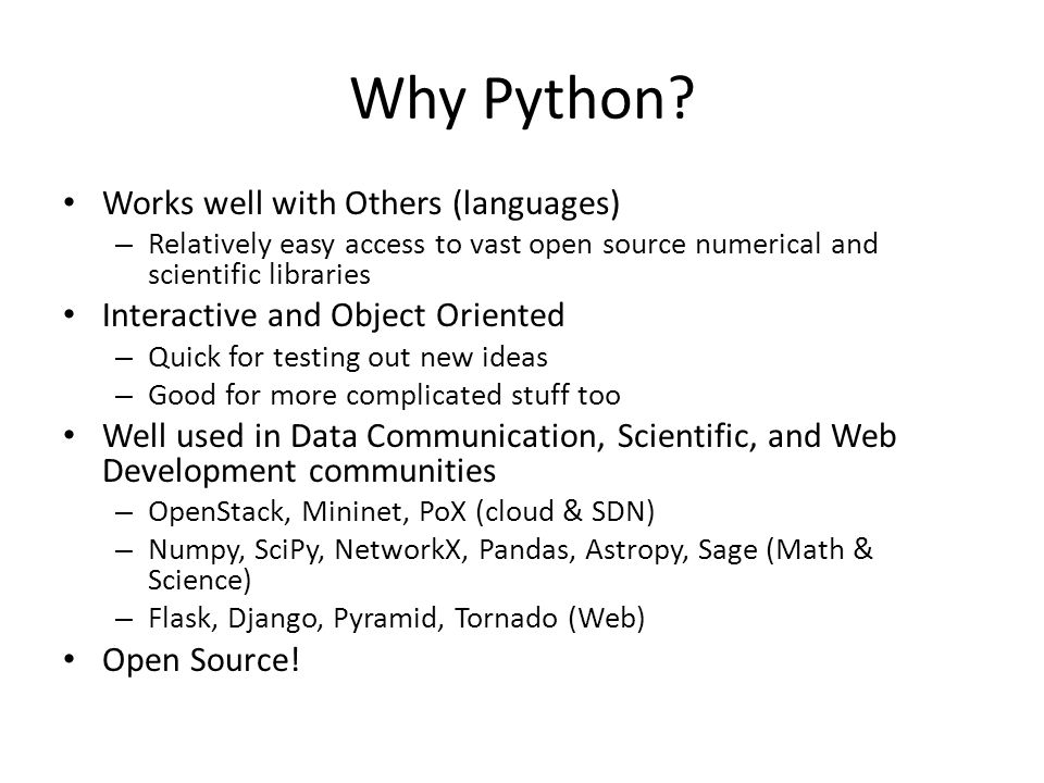 Why Python Works well with Others (languages)