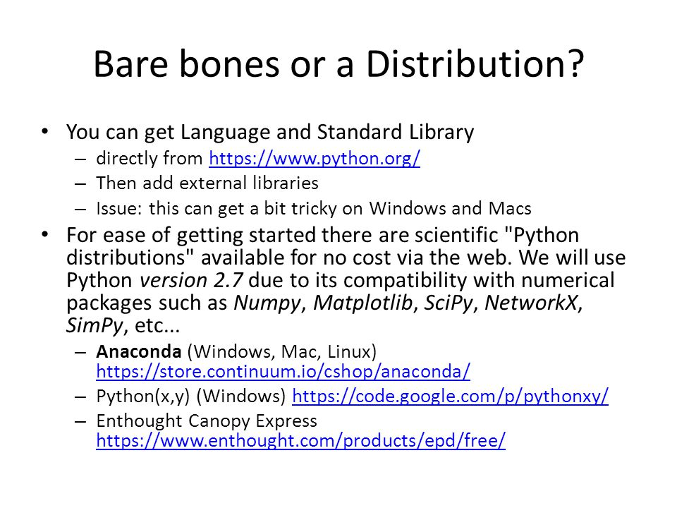Bare bones or a Distribution