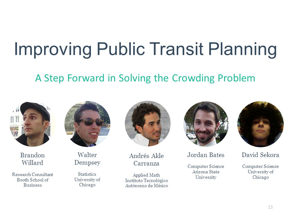 Improving Public Transit Planning