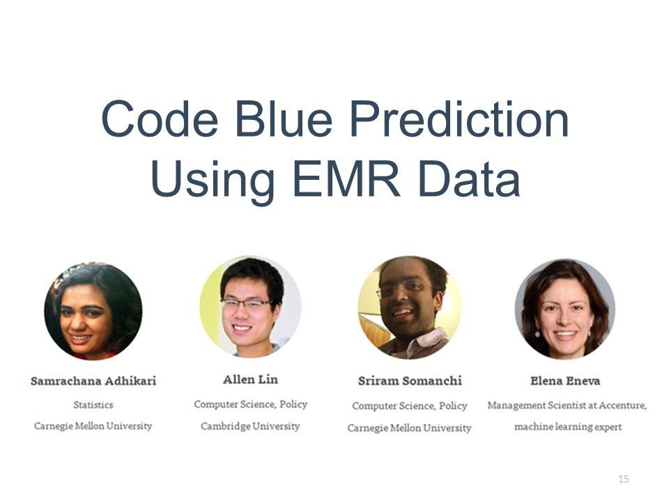 Code Blue Prediction Using EMR Data