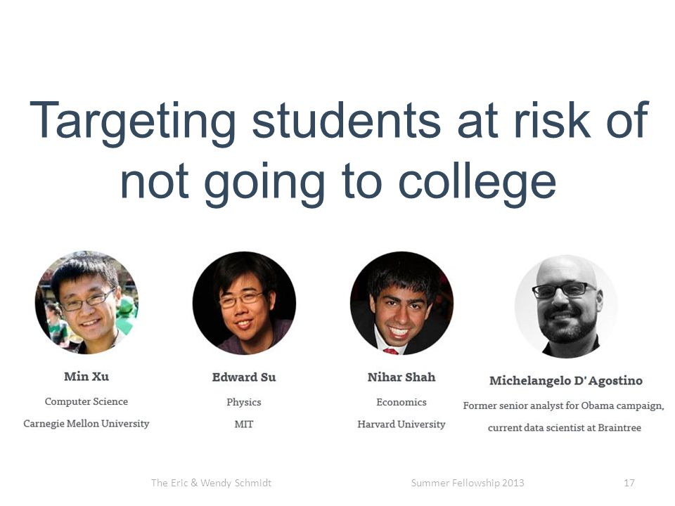 Targeting students at risk of not going to college