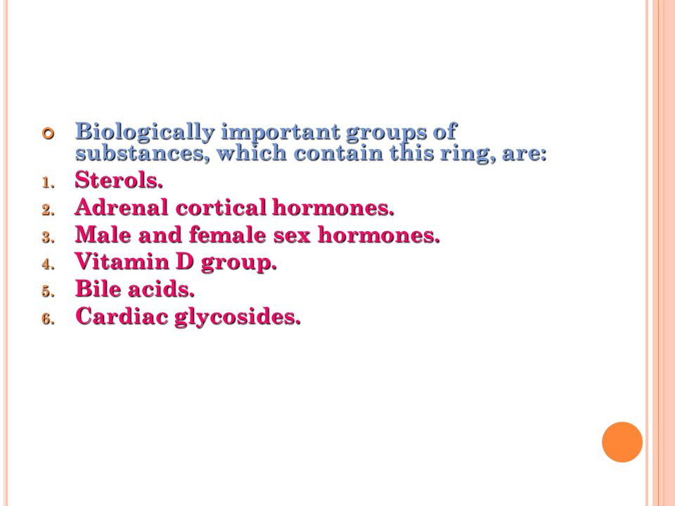 Biologically important groups of substances, which contain this ring, are: