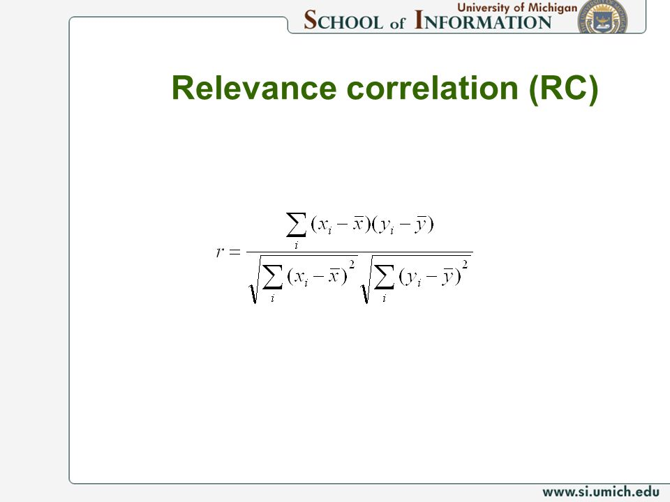 Relevance correlation (RC)