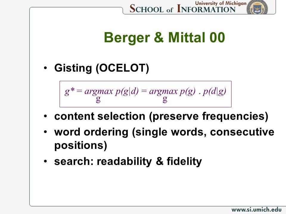 Berger & Mittal 00 Gisting (OCELOT)