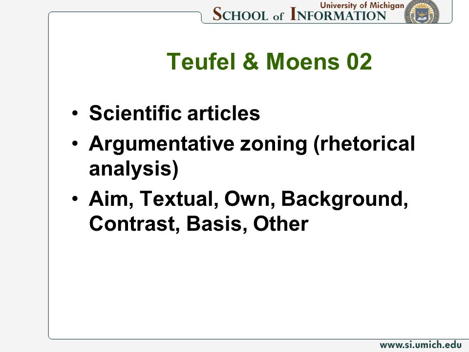Teufel & Moens 02 Scientific articles