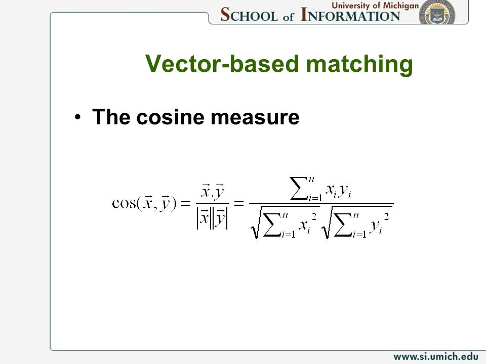 Vector-based matching