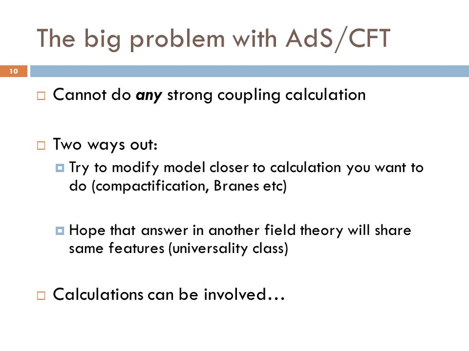 The big problem with AdS/CFT