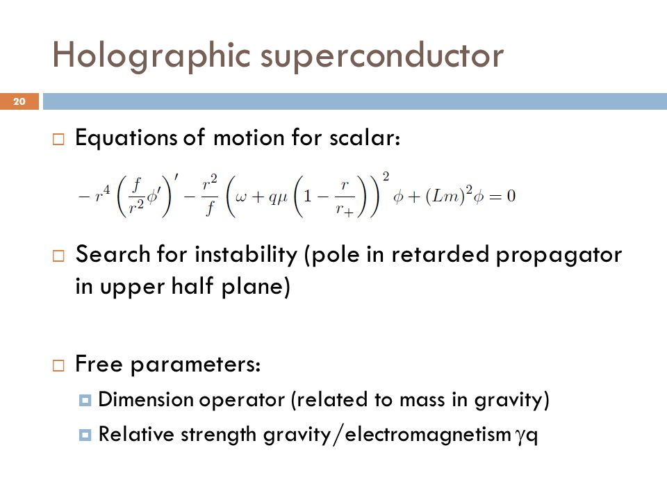 Holographic superconductor