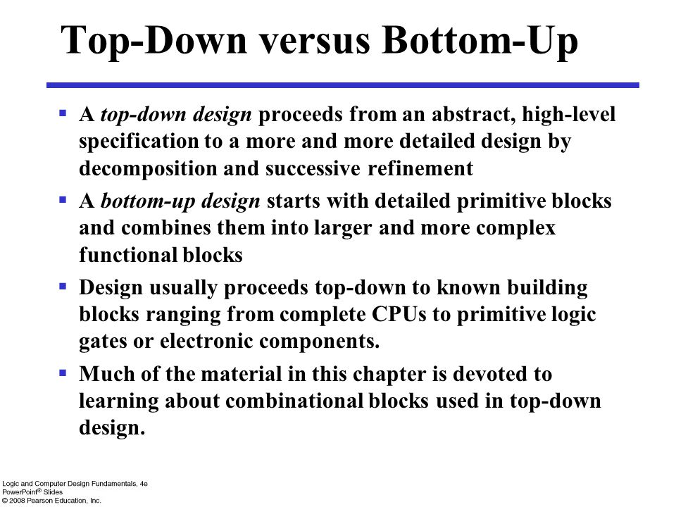 Top-Down versus Bottom-Up