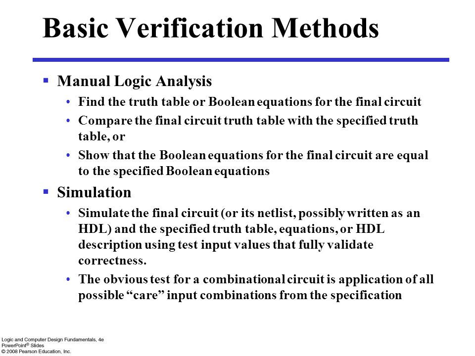 Basic Verification Methods