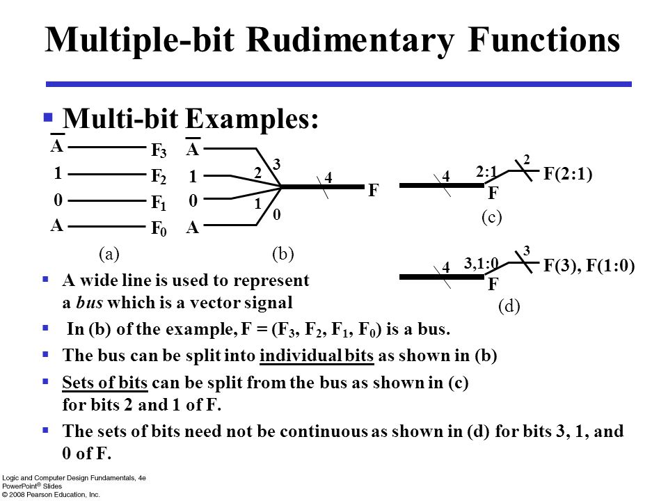 Multiple-bit Rudimentary Functions