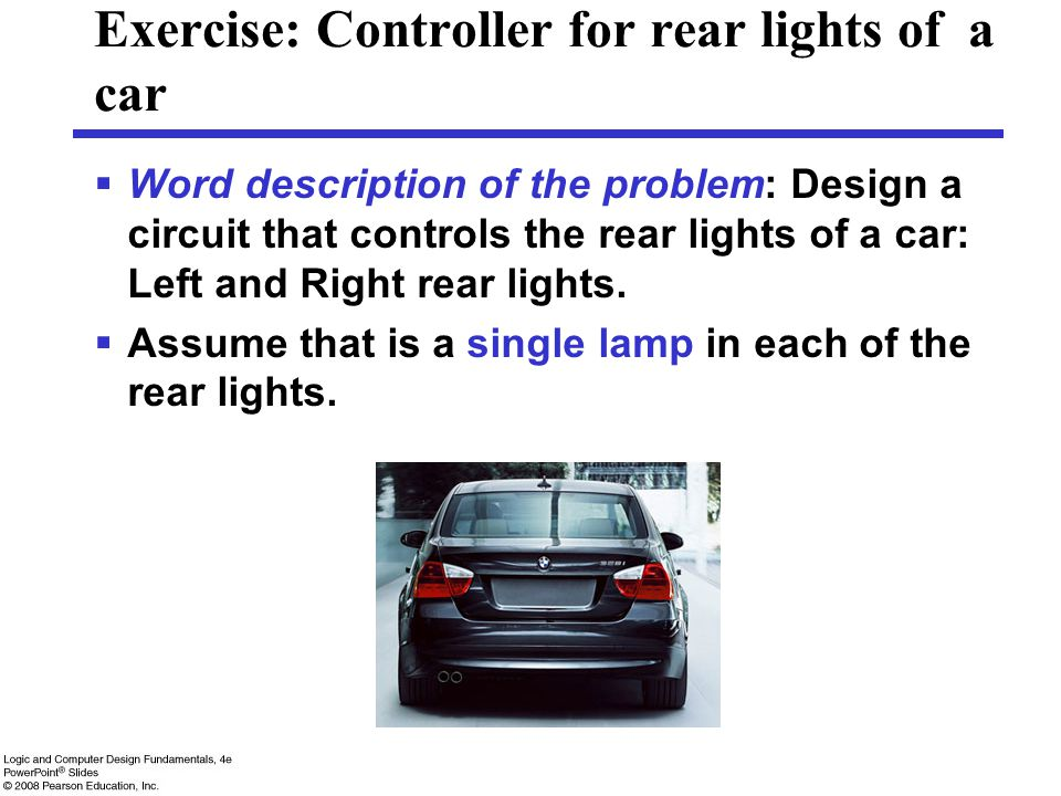Exercise: Controller for rear lights of a car