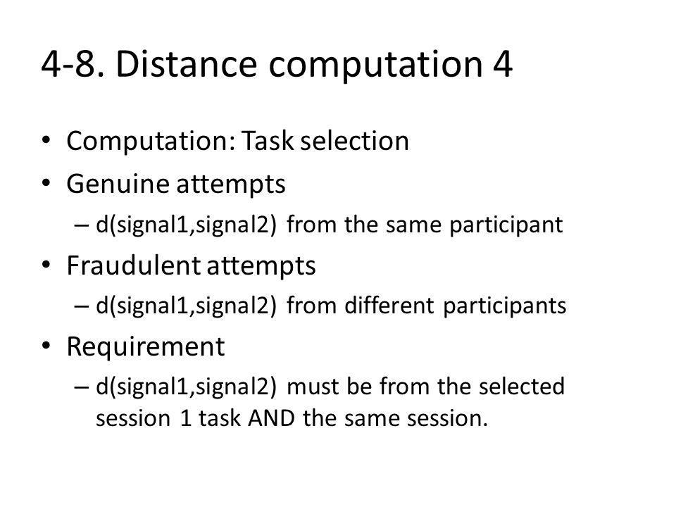 4-8. Distance computation 4
