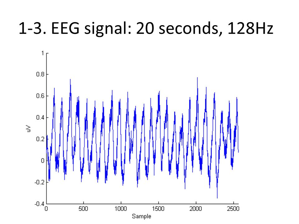 1-3. EEG signal: 20 seconds, 128Hz