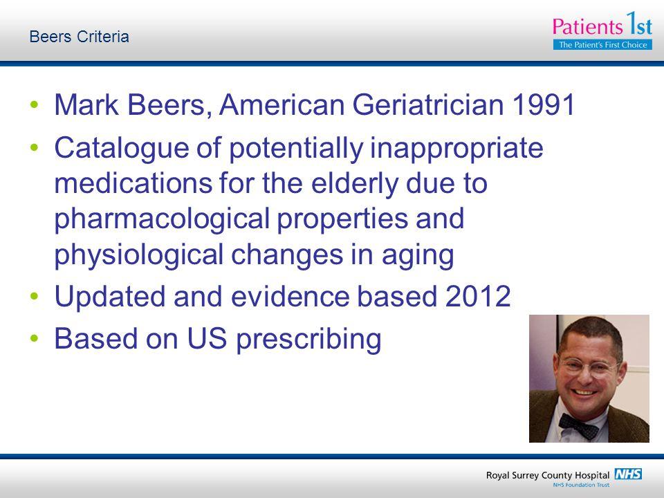 Mark Beers, American Geriatrician 1991