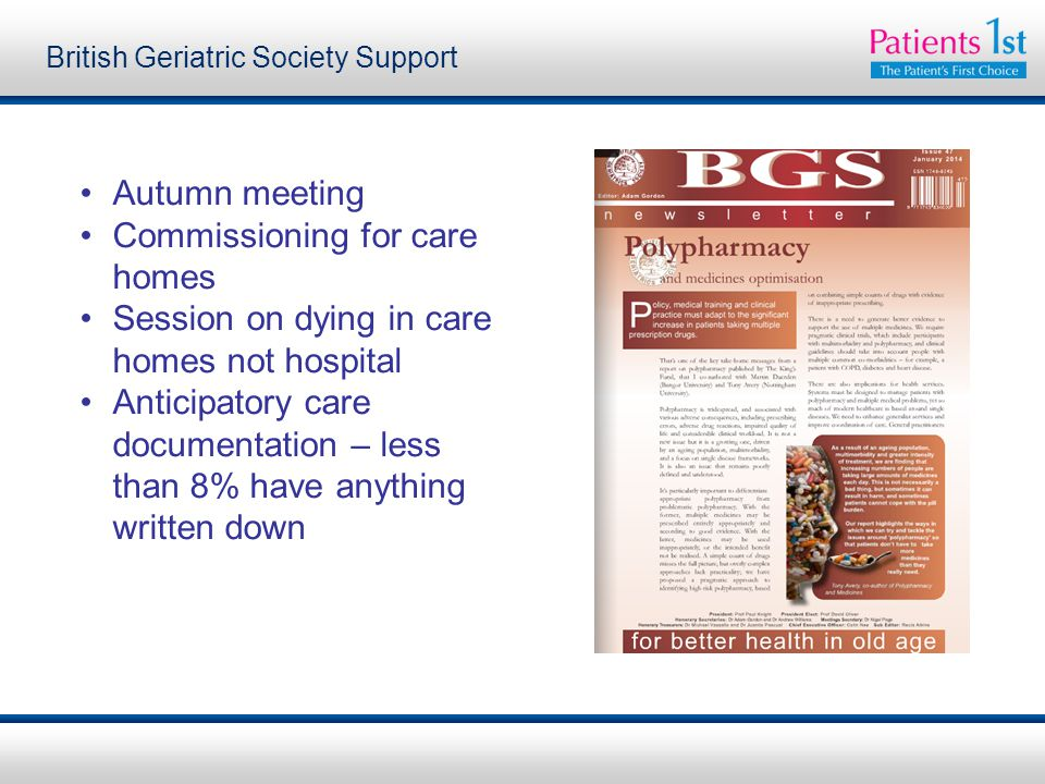 British Geriatric Society Support