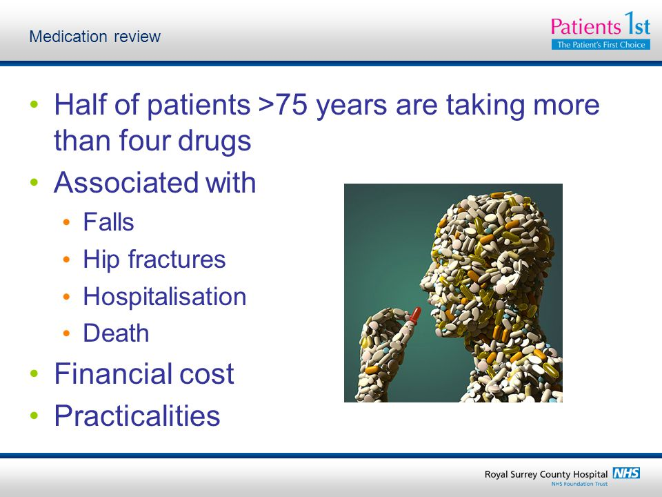 Half of patients >75 years are taking more than four drugs
