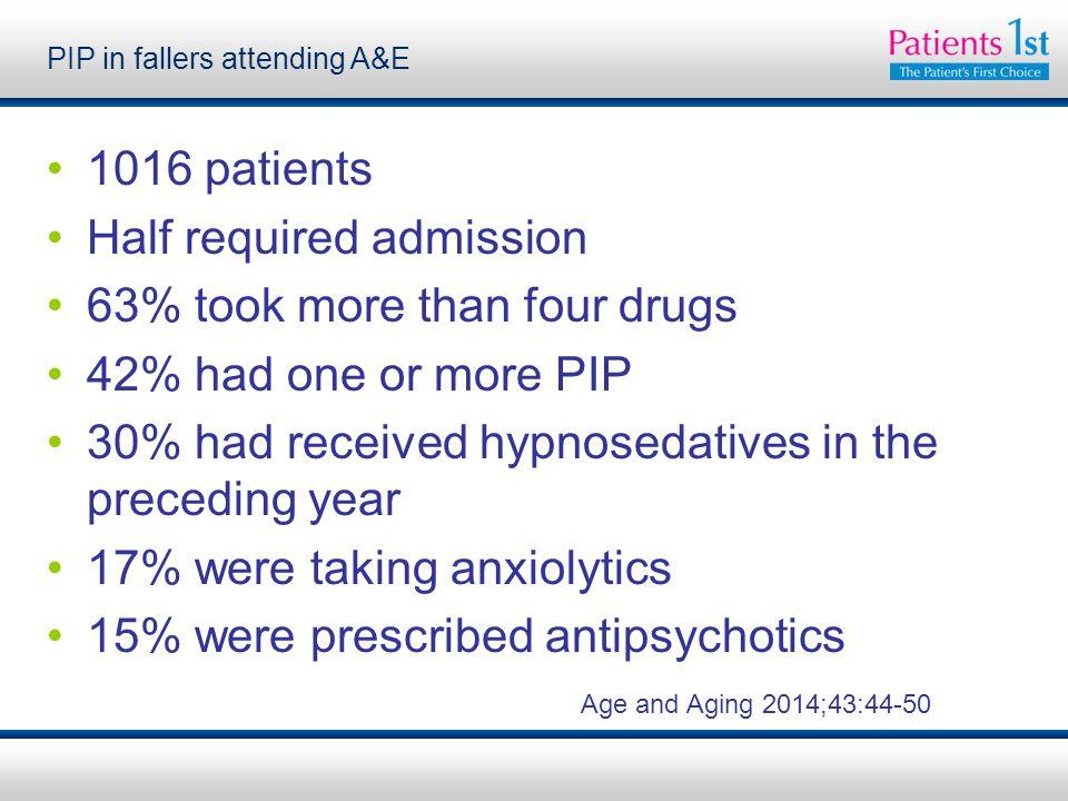 PIP in fallers attending A&E