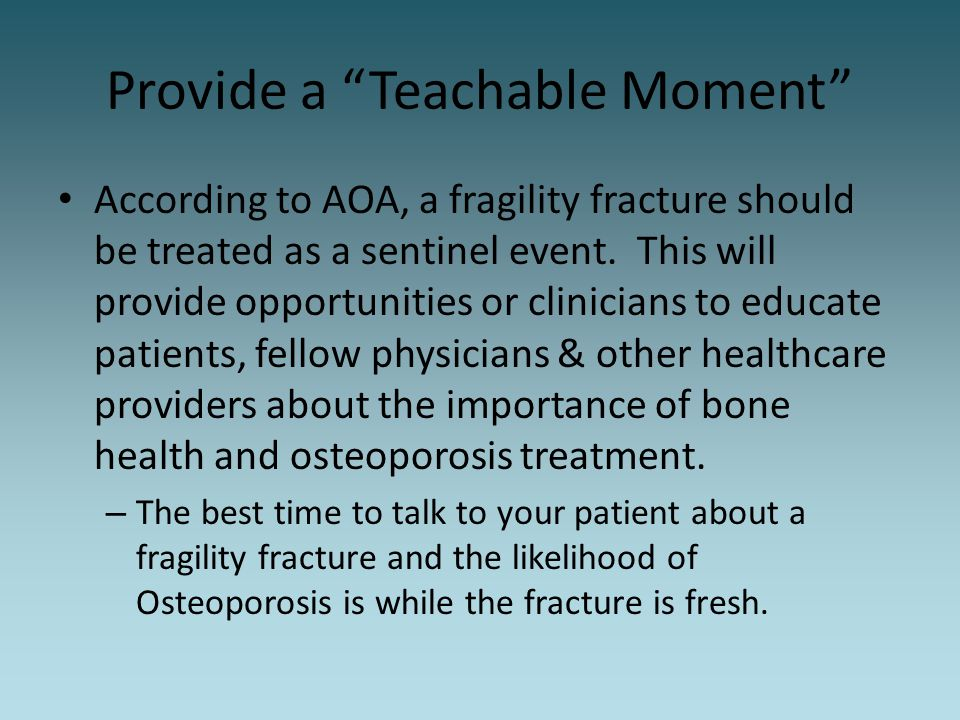 Provide a Teachable Moment
