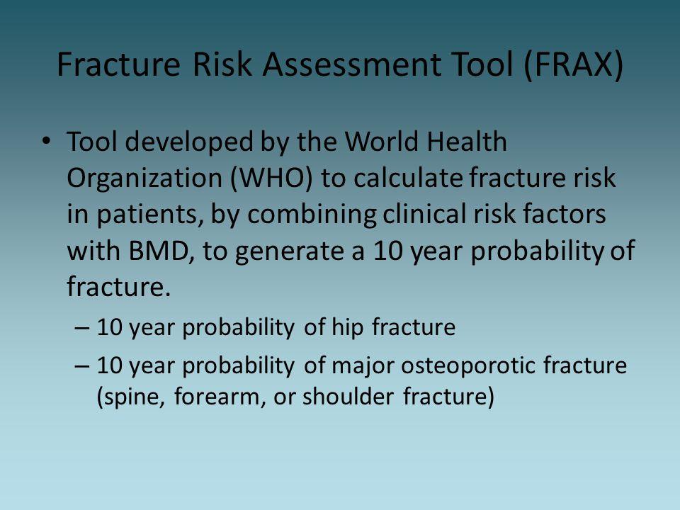 Fracture Risk Assessment Tool (FRAX)