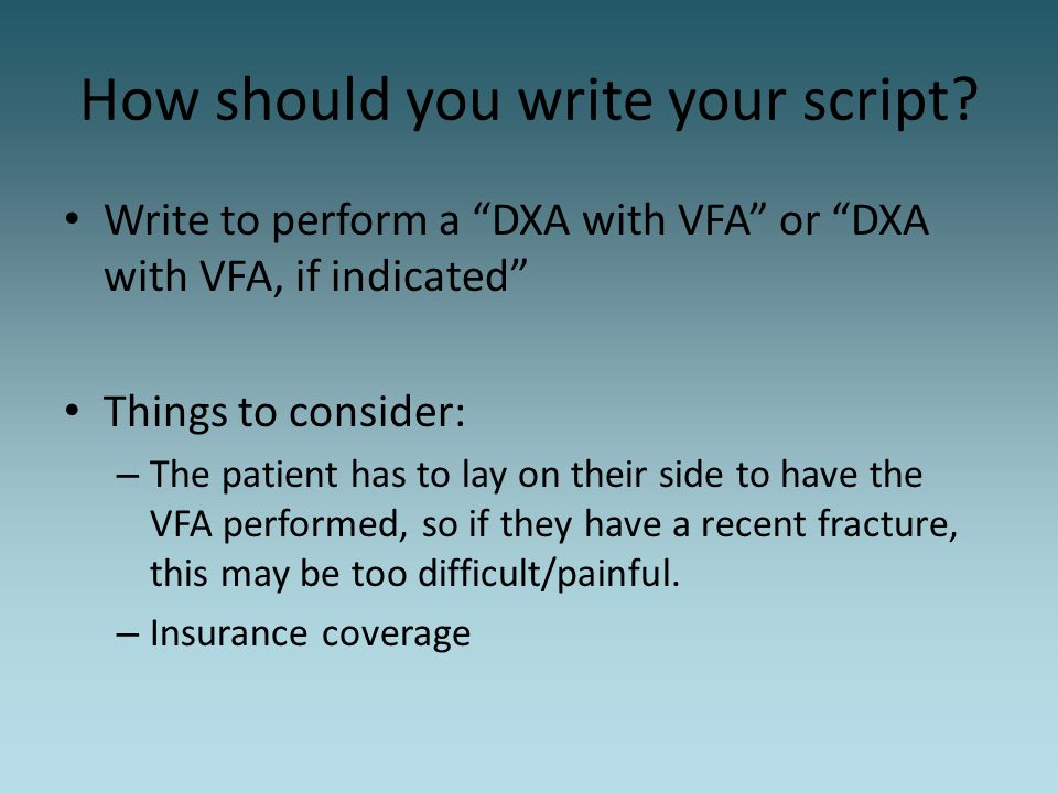 How should you write your script