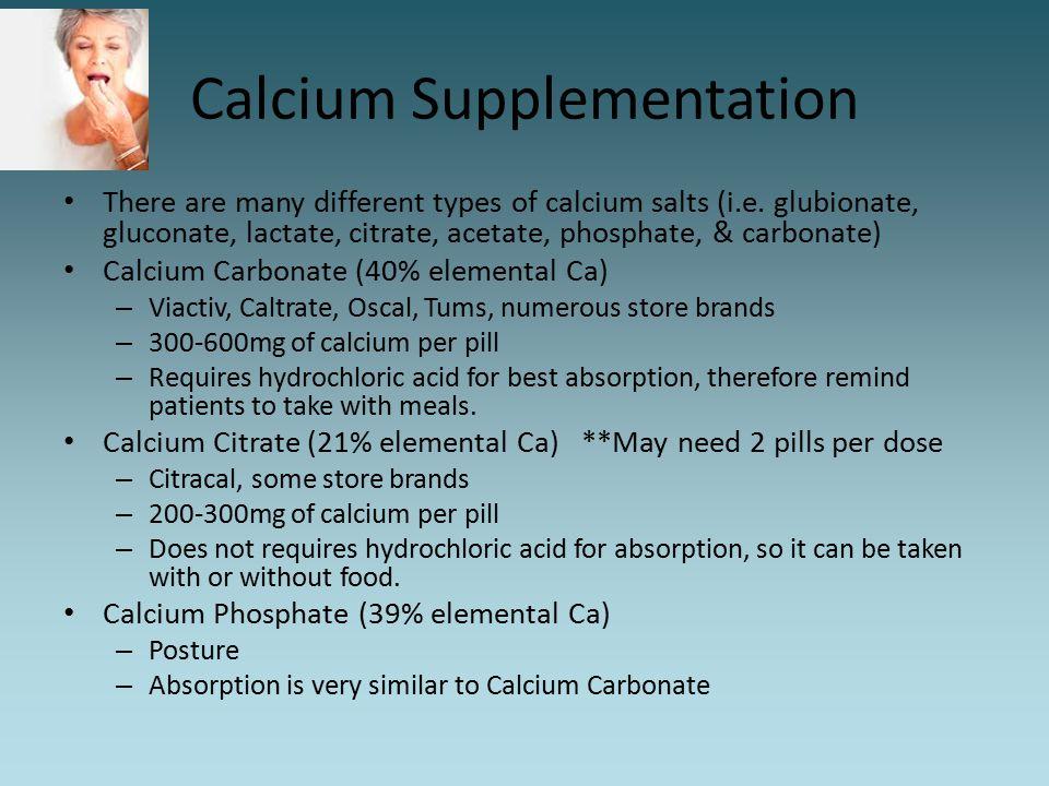 Calcium Supplementation