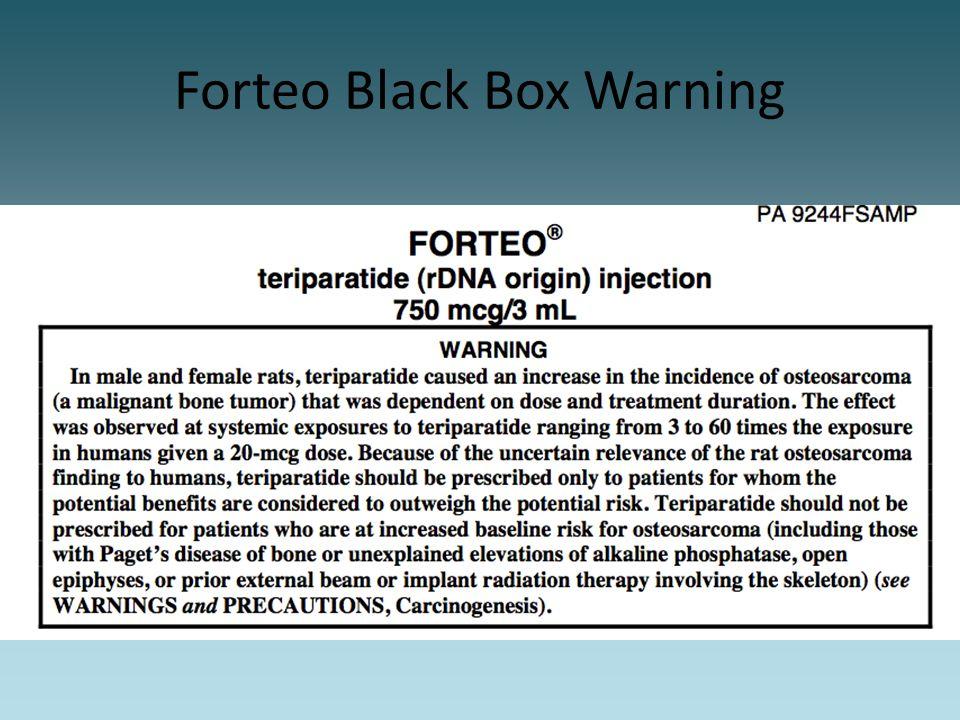 Forteo Black Box Warning