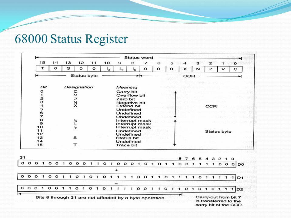 68000 Status Register