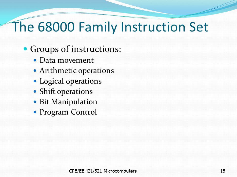 The 68000 Family Instruction Set