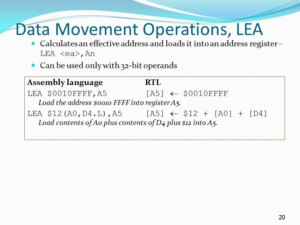 Data Movement Operations, LEA