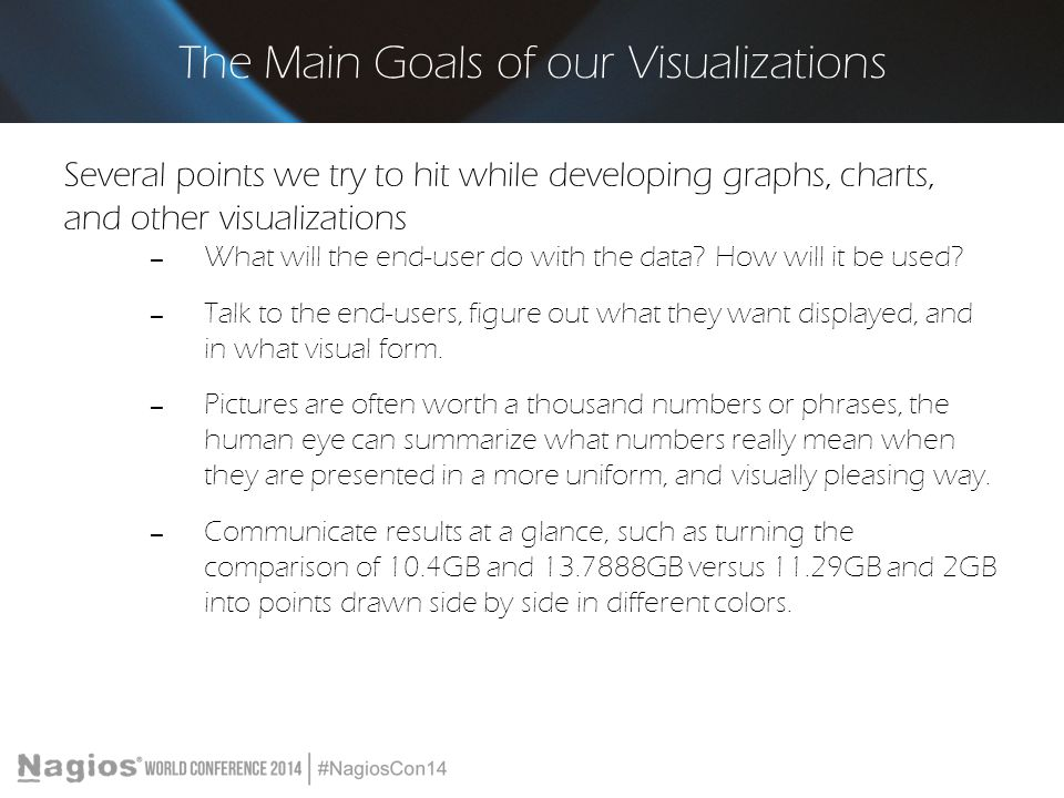 The Main Goals of our Visualizations
