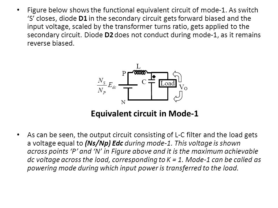 Equivalent circuit in Mode-1