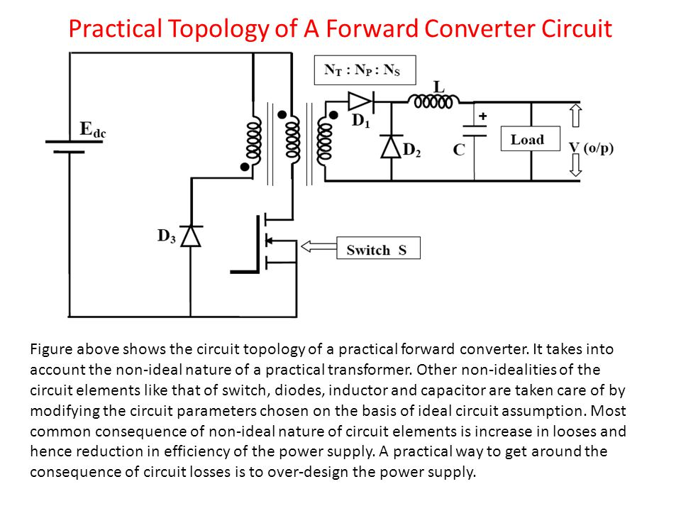 Practical Topology of A Forward Converter Circuit