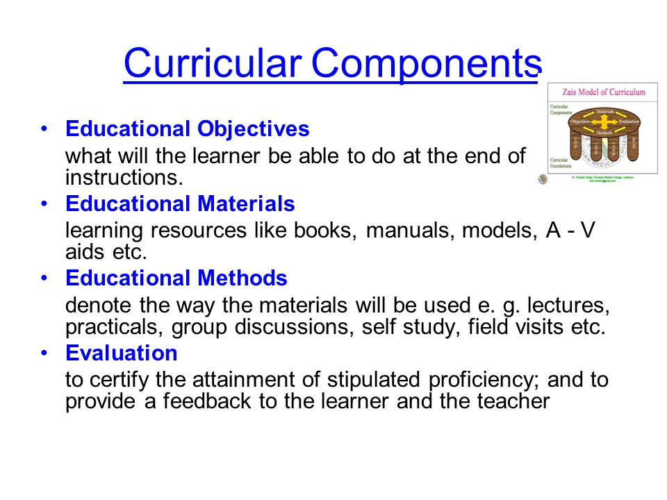 Curricular Components