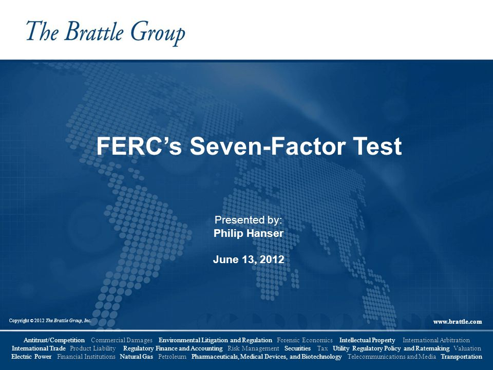 FERC's Seven-Factor Test
