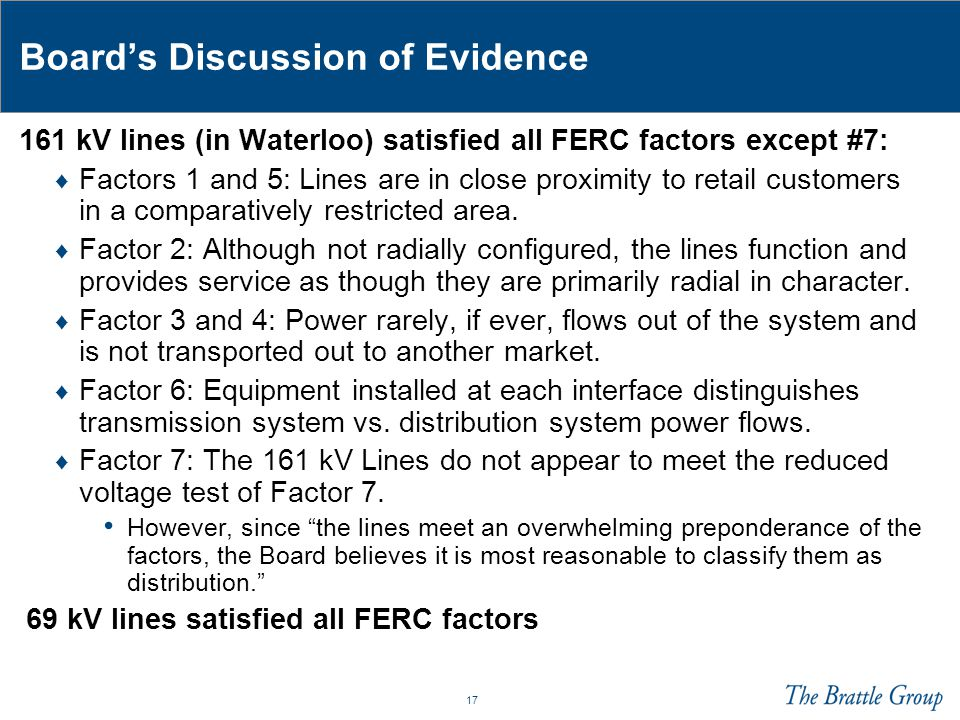 Board's Discussion of Evidence