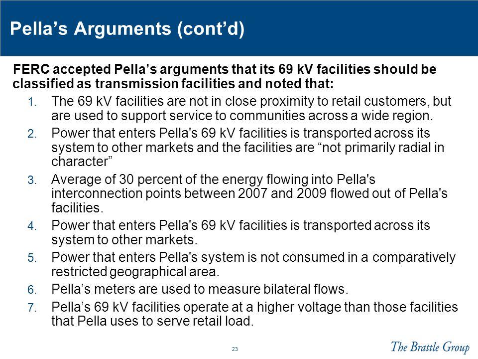 Pella's Arguments (cont'd)