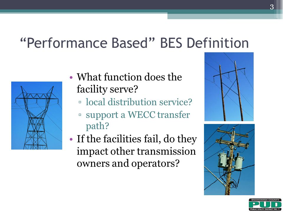 Performance Based BES Definition